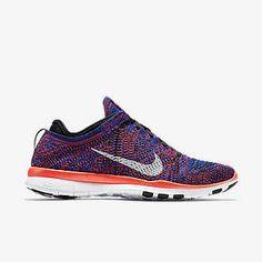 info for f7724 2559a black blue crimson Nike Free TR 5 Flyknit Women s Training Shoe