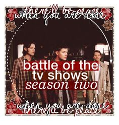 """☾battle of the tv shows bonus round one 