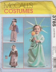McCall's Costumes 3785 Size 1-2-3-4 Toddlers' Patriotic Betsy Ross, Lady…