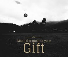 God gives gifts to everyone. Some can write, some can dance. He gave me the skill to play football. And I am making the most of it. Inspirational Soccer Quotes, Portable Soccer Goals, Soccer Inspiration, Soccer Training, Training Equipment, Football, Dance, God, Play