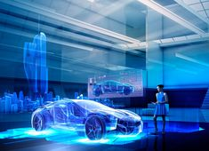 View top-quality stock photos of Caucasian Woman Examining Hologram Of Car. Find premium, high-resolution stock photography at Getty Images. Rolls Royce Images, Men Are From Mars, Car Experience, Cyberpunk City, Car Museum, Science Museum, Futuristic Technology, New Energy, Exhibition Space