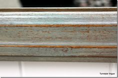 How to get a Coastal Patina Paint Finish - use white, teal, green, taupe and pearl metallic paint, and clear wax