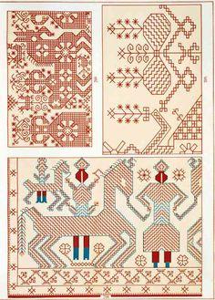 Cross Stitch Borders, Cross Stitch Flowers, Cross Stitch Charts, Cross Stitching, Cross Stitch Patterns, Knitting Patterns, Russian Embroidery, Blackwork Embroidery, Folk Embroidery