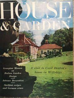 Cecil Beaton.  September 1962, House & Garden cover