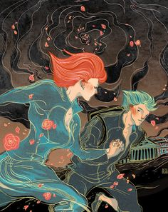 """""""Time Considered as a Series of Thermite Burns in No Particular Order"""" by Damien Broderick. Art by Victo Ngai. Time travel—not for the weak. For one thing, the clothes future people wear..."""