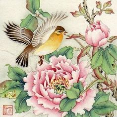 """Spring Fragrance"" - Original Fine Art for Sale - © by Jinghua Gao Dalia"