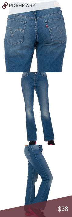 """New Levi's 524 Boot Cut Jeans LEVIS """"524"""" boot cut jeans size 3 New   Zip and button closure  Contrasting stitching  Five pocket jean  Boot cut FIT: Boot cut, ultra low rise FABRIC: 99% Cotton, 1% Elastane Levi's Jeans Boot Cut"""