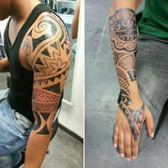 Twin brothers with a Jagua Tattoo