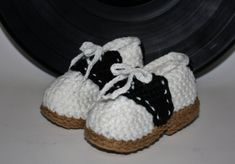 Baby Saddle Shoe Slippers - Handmade Crochet Baby Shoes