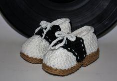 Baby Saddle Shoe Slippers  Handmade Crochet by anniekscreations, $18.00
