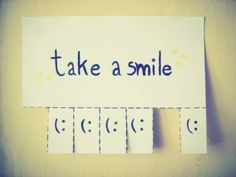 I'm going to make these and hang them up in random places. We could all use some more smiles in our life (: