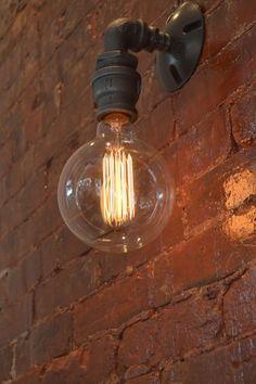 Mur appliques appliques éclairage industriel par WestNinthVintage