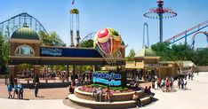 Worlds of Fun is a 235-acre amusement park in Kansas City, Missouri, United States. Admission to Worlds of Fun includes access to Oceans of Fun, a water park adjacent to the amusement park. This park is boasting roller coasters, thrill rides, live entertainment & a Snoopy-themed kids' area so what are you waiting for?!