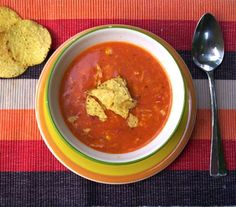 Tomato Chicken Soup with Corn and Cheddar Corn Tortillas, Chicken Soup, Cheddar, Thai Red Curry, Cooking, Ethnic Recipes, Food, Inspiration, Tomatoes
