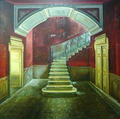 La escalera,  cuadro de Cristina Segura