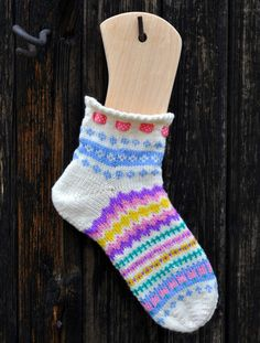 The Easter sock. Free pattern in Swedish and Norwegian on our blog.