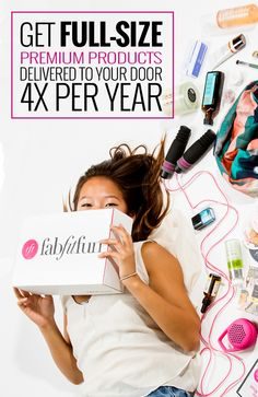 Treat yourself to a FabFitFun box of full-size, premium beauty, fashion, and fitness products! Each season our expert editors hand-select only the best items for you to stay motivated and happy. Each box has a $200 value for less than half the price so you can feel beautiful on a budget. Transform your fitness, beauty plan and sign-up today!