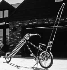 kustom chopper bicycle (via History of Kustom Biking by John Brain) Velo Retro, Retro Bicycle, Tandem, Velo Tricycle, Bike Cart, Hot Wheels, Bmx, Lowrider Bicycle, Cruiser Bicycle