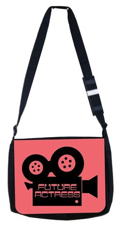 Future actress Pink camera Rosie Parker Inc. TM Medium Sized Messenger Bag 11.75' x 15.5' * You can find more details by visiting the image link. (This is an Amazon Affiliate link and I receive a commission for the sales)