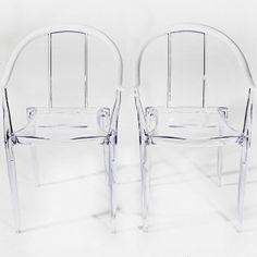 lucy | acrylic armchairs  retrospective vintage rentals austin