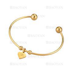 pulsera de dije corazon dorado en acero inoxidable -SSBTG924358