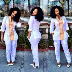 Kuda African Woman top & pants by THEAFRIKANSHOP on Etsy