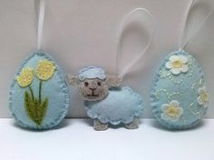 Items similar to PRE ORDER / Felt Pastel Easter decoration, felt eggs with flowers birds sheep, Pastel Easter ornaments, Pastel spring decoration on Etsy Handmade Ornaments, Handmade Felt, Easter Crafts, Crafts For Kids, Daffodil Flower, Felt Decorations, Baby Yellow, Tiny Flowers, Egg Decorating