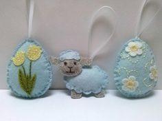 Ornamenti di Pasqua feltro decorazione di Pasqua di DusiCrafts