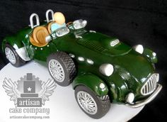 How to sculpt a realistic car from RKT and fondant. Step by step video instructions by Elizabeth Marek from Artisan Cake Company.