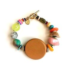 The El Poco Loco Baubler Bracelet will bring you loads of fun texture and happy vibes. Having a multitude of gemstones and natural wood elements that adds color to your jewelry repertoire. Happy Vibes, Design Show, Daily Deals, Statement Jewelry, Boho Fashion, Gemstones, Bracelets, Style, Iris Apfel