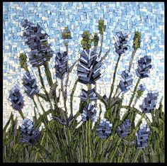 Summer Fragrance by Virginia Mosaics  This looks like lavender to me it is quite pretty.