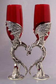 Dragon Heart Wing Glasses by Fellowship Foundry. $170.00