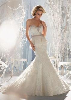 Peplum wedding dress