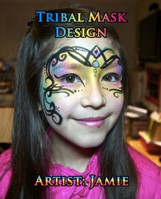 Tribal Mask Face Painting Design VIDEO Tutorial—Face Painting Tips Shop