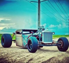 #RatRod - Because sometimes simple and fast is all you need. #Speed #Power #Custom #HotRod #Design #Cool