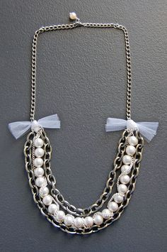 From the Dark Elegance Collection- The AVELINE Necklace -   Chic and classy, good combination to nearly everything <3