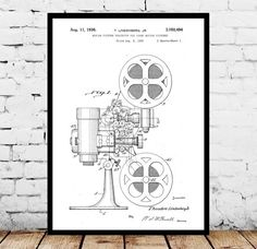 Motion Picture Projector Print, Motion Picture Projector Poster, Motion Picture Projector Patent, Vintage Motion Picture Projector Decor by STANLEYprintHOUSE  1.00 USD  We use only top quality archival inks and heavyweight matte fine art papers and high end printers to produce a stunning quality print that's made to last.  Any of these posters will make a great affordable gift, or tie any room together.  Please choose between different sizes and col ..  https://www.etsy.com/ca/list..
