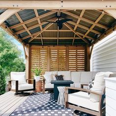 Machine Washable Rugs (@ruggable) • Instagram photos and videos Outdoor Rugs, Outdoor Living, Outdoor Decor, Covered Deck Ideas On A Budget, Deck Rug, Machine Washable Rugs, Deck Decorating, Covered Decks, Cozy House