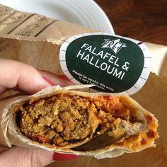 Falafel And Halloumi Wrap @ Pret A Manger