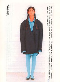 "mmm-maisonmartinmargiela: "" mmm-maisonmartinmargiela: "" S/S Sonia. Blazer bleu agrandi / Enlarged blue blazer Chemise bleue agrandie / Enlarged blue shirt Escarpins noirs / Black heel-less stilettoes "" "" Fashion History, Fashion Art, Fashion Design, Date Outfits, Fashion Photography, Menswear, Style Inspiration, Unisex, Shirts"
