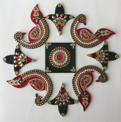 Kundan Rangoli by JewelBloomsTX on Etsy
