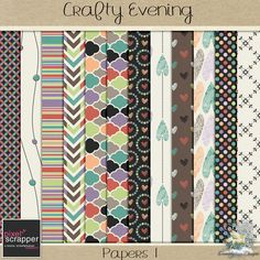 FREE Crafty Evening Papers 1 - January 2016 Pixel Scrapper Blog Train : Dreamn4ever Designs