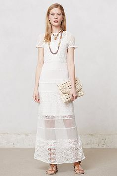 Crochet maxi + more lovely white gowns