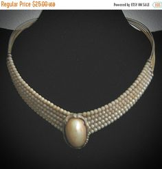 72 Hour Sale 1950's Collar Necklace-Very by familycollectibles4U