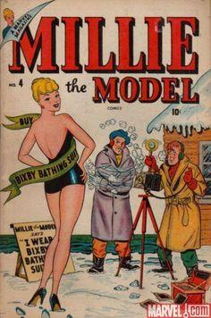 Millie the Model Vol 1 4 Old Comic Books, Vintage Comic Books, Vintage Comics, Comic Book Covers, Buy Comics, Marvel Comics, First Marvel Comic, Hulk Vs Superman, Millie The Model