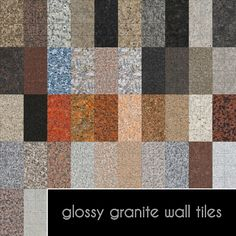 Lana CC Finds - Glossy Granite Wall Tiles by Madhox  (Sims 4)...