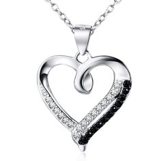 Heart shaped 925 sterling silver necklace