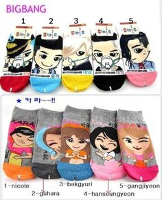 1-5pairs-bigbang-socks-Kpop-Character-kara-Socks-all-members-korea-top-star
