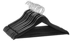 Florida Brands Suit Hangers, Black Wood, Set of 96 Florid...