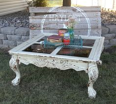 Shabby Chic Coffee Table Paint Redo